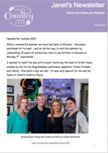 Janets Autumn Newsletter
