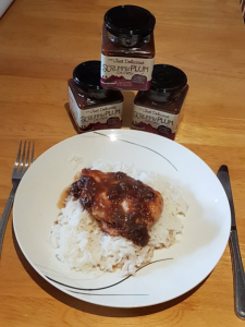 Jill's Quick and Easy chicken with Scrummy Plum Chutney