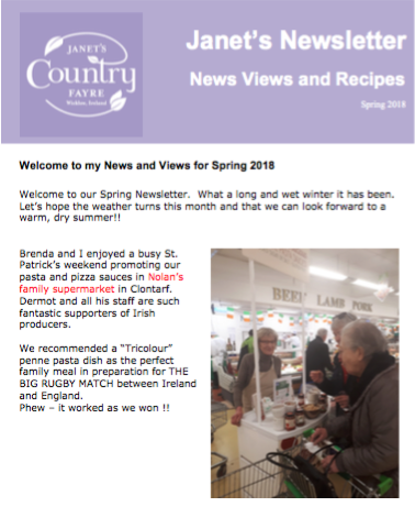 Janets Newsletter Spring 2018